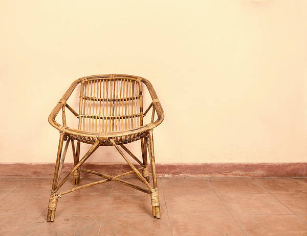 Rustic Furniture Photograph - Wicker Armchair by Dutourdumonde Photography