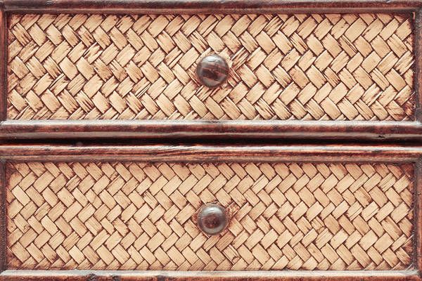 Chest Of Drawers Photograph - Wicker Drawers by Tom Gowanlock