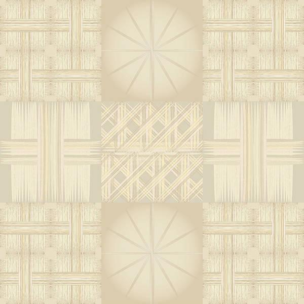 Wicker Quilt Art Print