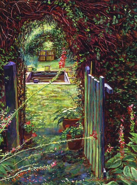 Arbor Painting - Wicket Garden Gate by David Lloyd Glover