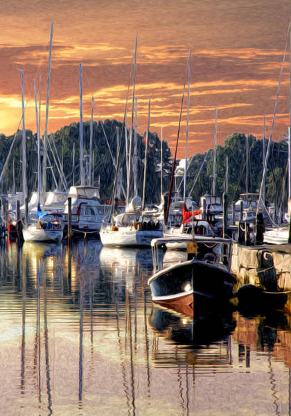 Wall Art - Photograph - Wickford Harbor Morning by Richard Trahan