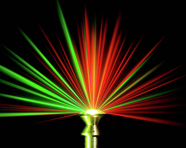Beam Of Light Photograph - Wide-angle Optical Multi-channel Probe by Los Alamos National Laboratory/us Department Of Energy/science Photo Library