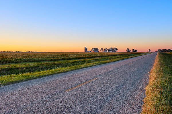 Photograph - Wide Open Roads - Rural Georgia Landscape by Mark E Tisdale