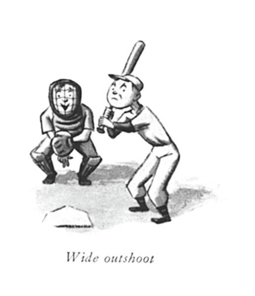 Pitchers Drawing - Wide Outshoot by William Steig