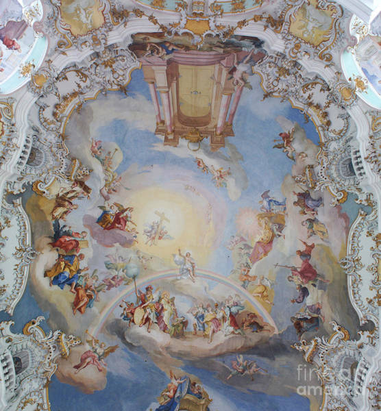 Wall Art - Photograph - Wies Pilgrimage Church Bavaria Fresko by Rudi Prott