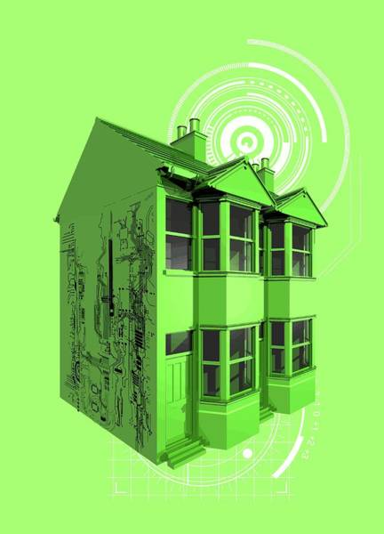 Wall Art - Photograph - Wifi Enabled Home by Victor Habbick Visions/science Photo Library