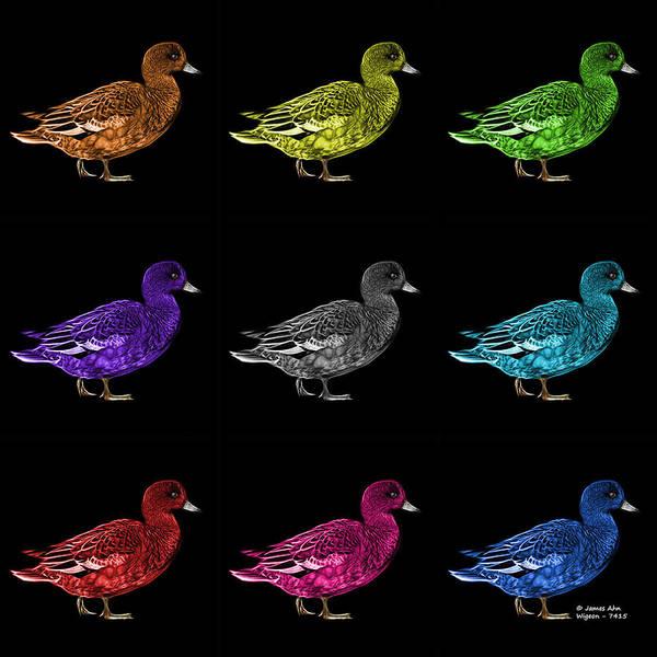 Mixed Media - Wigeon Art Pop Art  - 7415 - Bb - M by James Ahn