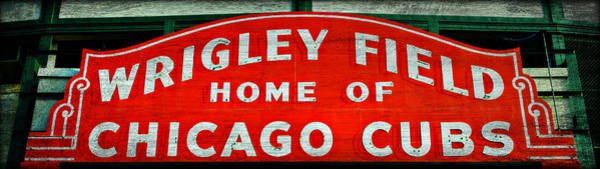 Hey Photograph - Wrigley Field Sign -- No.3 by Stephen Stookey