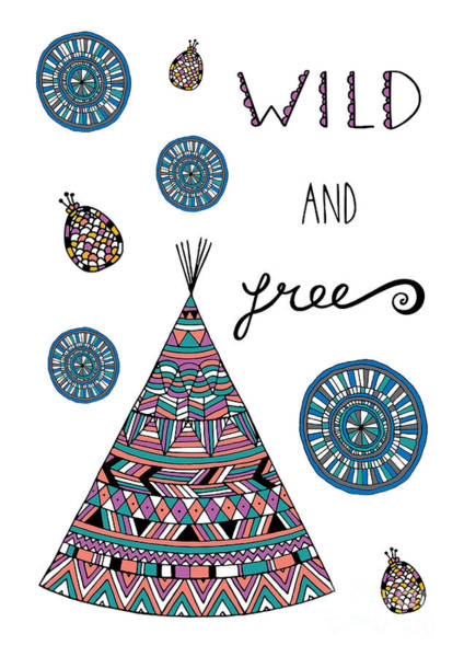 Wall Art - Digital Art - Wild And Free by MGL Meiklejohn Graphics Licensing