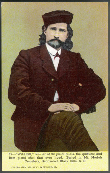 Wild Bill Hickock Photograph - Wild Bill Hickok Alias James Butler by Mary Evans Picture Library
