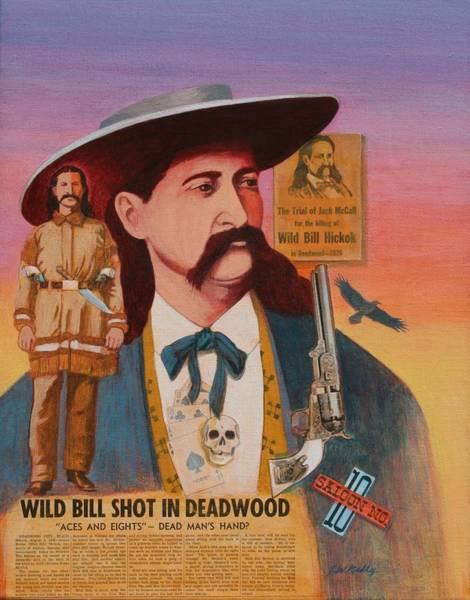 Wild Bill Hickok  Art Print by J W Kelly