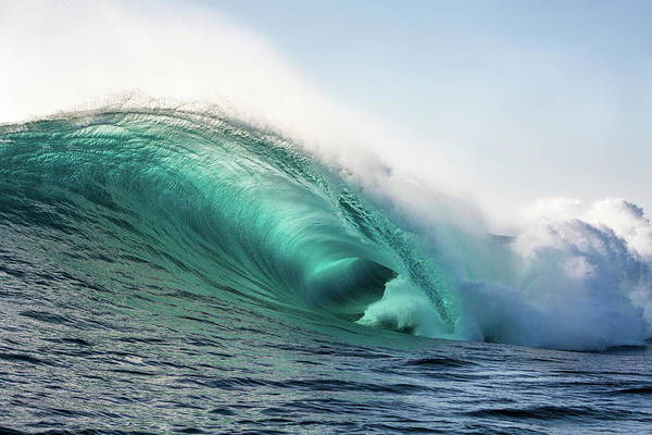 Surfing Photograph - Wild Blue by Halfbinz