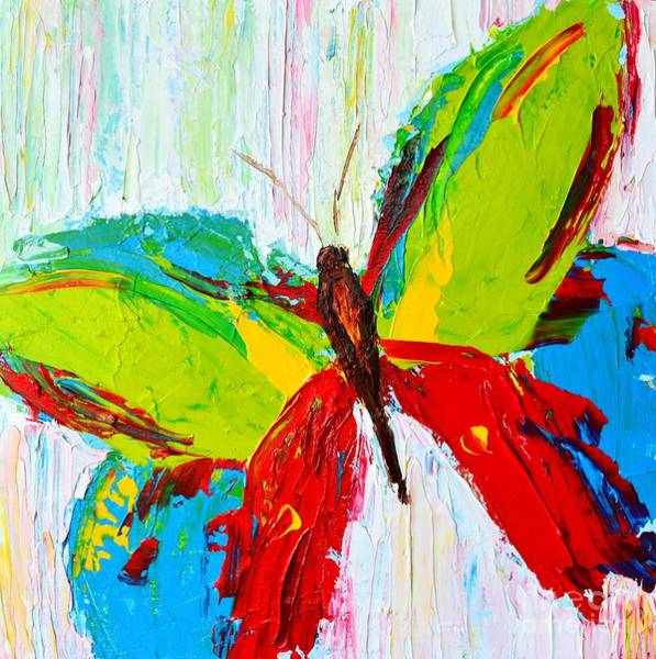 Painting - Wild Butterflies - Modern Impressionistic Art - Palette Knife Colorful Painting by Patricia Awapara
