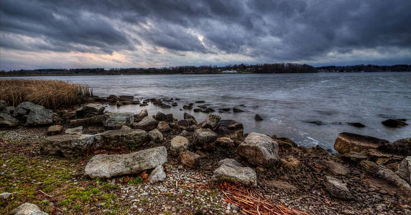 Photograph - Wild Clouds On The Lake by David Dufresne