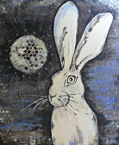 Wild Eyed Hare Art Print by Laura Heilman