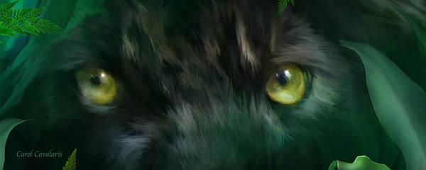 Black Panther Mixed Media - Wild Eyes - Black Panther by Carol Cavalaris