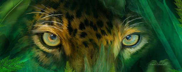 Mixed Media - Wild Eyes - Jaguar by Carol Cavalaris