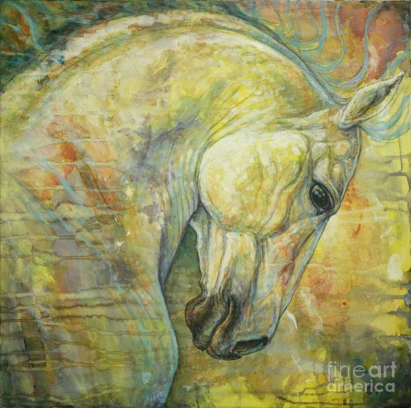 White Horse Wall Art - Painting - Wild Feel by Silvana Gabudean Dobre