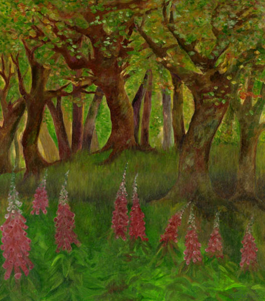 Painting - Wild Foxgloves by FT McKinstry