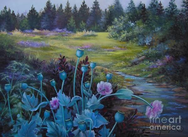 Wild Garden Art Print by Jean  Yanowski