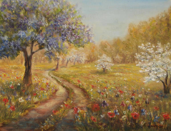 Painting - Wild Garden Path by Katalin Luczay