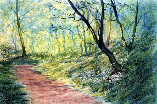Painting - Wild Garlic In Sewerby Woods by Glenn Marshall