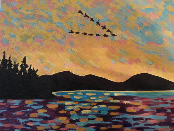 Painting - Wild Geese Ala Thomson by Nikki Dalton