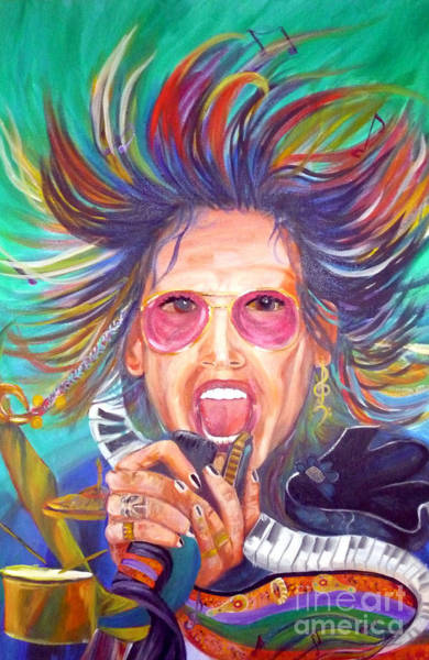 Steven Tyler Painting - Wild Genius by To-Tam Gerwe