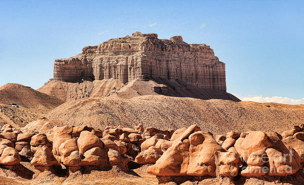 Goblin Valley State Park Photograph - Wild Horse Butte Near Goblin Valley State Park by Jack Schultz