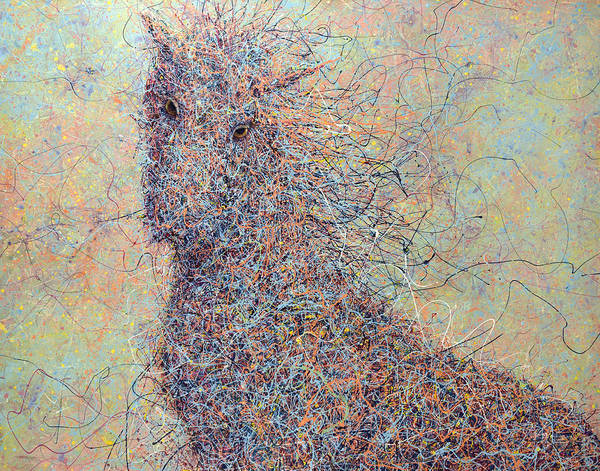 Wall Art - Painting - Wild Horse by James W Johnson