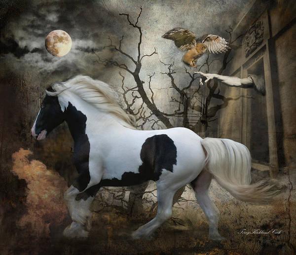 Digital Art - Wild Horse Of The Apocalypse by Terry Kirkland Cook