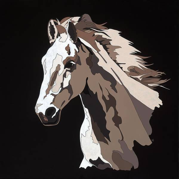Painting - Wild Horse With Hidden Pictures by Konni Jensen