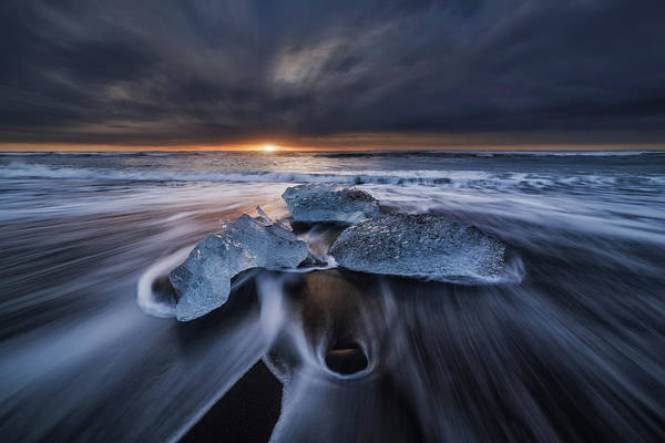 Blue Ice Photograph - Wild Ice II by Juan Pablo De