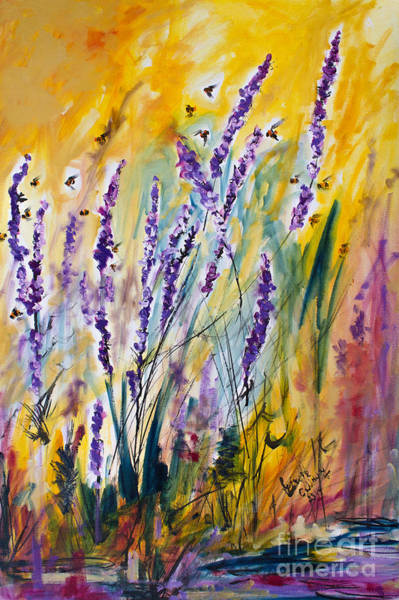 Painting - Wild Lavender And Bees Provence by Ginette Callaway