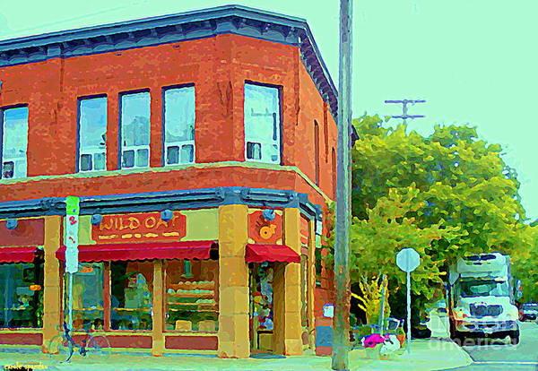 Painting - Wild Oat Bakery Cafe Veggie Restaurant Quaint Corner Shop The Glebe Ottawa Scenes Cspandau Paintings by Carole Spandau