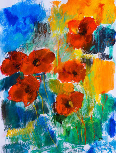 Living Space Wall Art - Painting - Wild Poppies by Elise Palmigiani