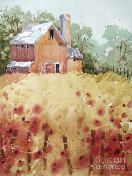 Silo Painting - Wild Poppies by Joyce Hicks