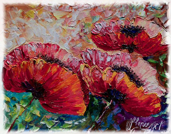 Painting - Wild Poppies by OLena Art - Lena Owens