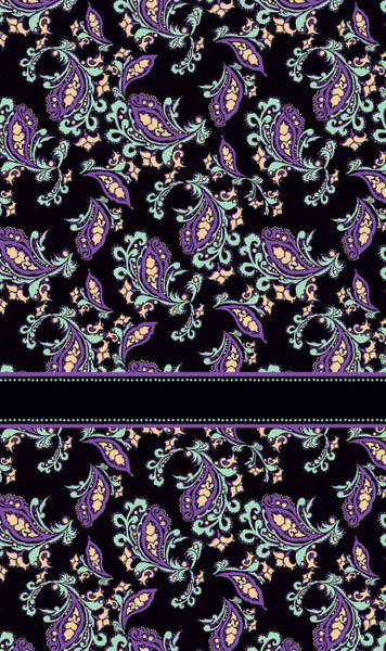 Cool Mixed Media - Wild Purple Paisley by Jenny Armitage