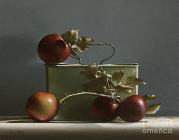 Wall Art - Painting - Wild Red Apples - Study No. 2 by Lawrence Preston