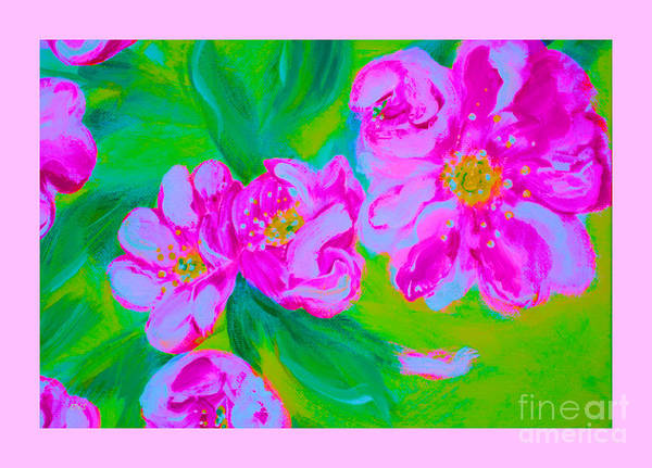Mixed Media - Wild Roses 34.2 by Oksana Semenchenko