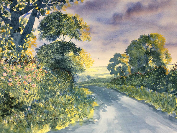 Painting - Wild Roses On The Wolds by Glenn Marshall