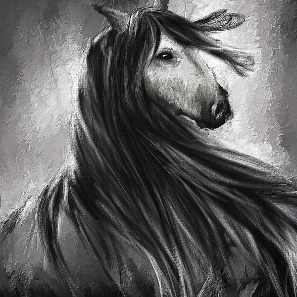 Andalusian Wall Art - Painting - Wild Soul- Fine Art Horse Artwork by Lourry Legarde