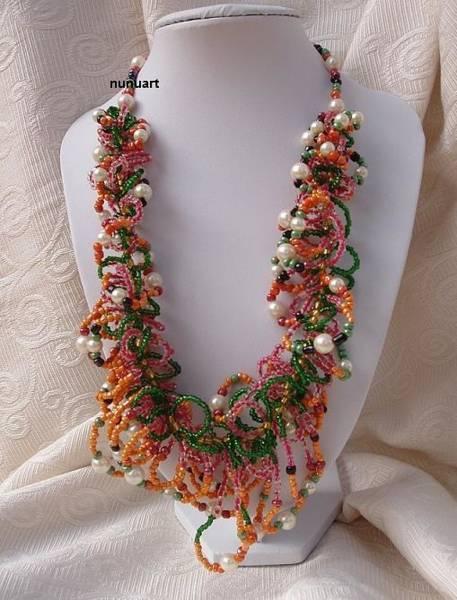 Wall Art - Jewelry - Wonderful And Joy Necklace  by Nurit Tzubery