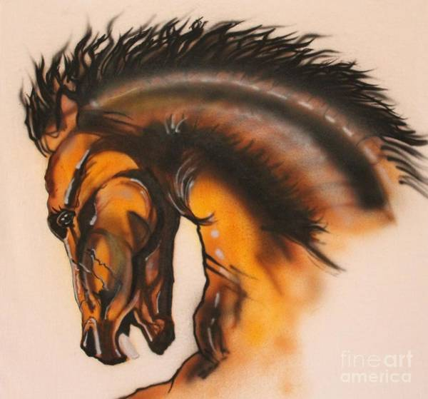 Painting - Wild Stallion by Bob Williams