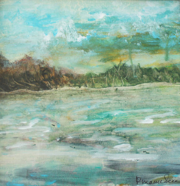 Wall Art - Painting - Wild Water by Peggy Maunsell