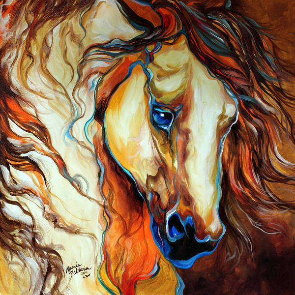 Painting - Wild West Buckskin by Marcia Baldwin