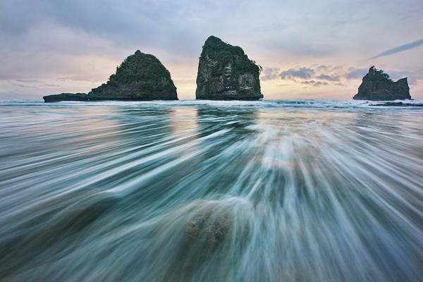 Tidal Photograph - Wild West Coast by Yan Zhang