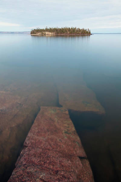 Lake Superior Photograph - Wilderness Island In Lake Superior by Susan Dykstra / Design Pics