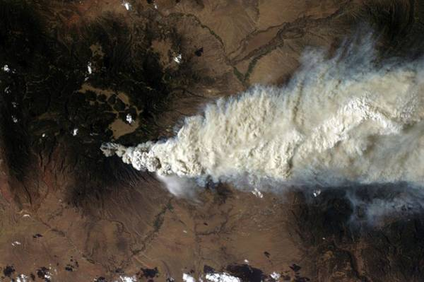 Plume Photograph - Wildfire by Nasa/science Photo Library